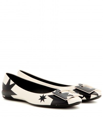 Roger Vivier Gommette star detail patent leather ballerinas available at MYTHERESA.com