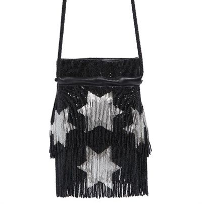 Saint Laurent stars beaded fringe nappa bucket bag available at LUISAVIAROMA.com