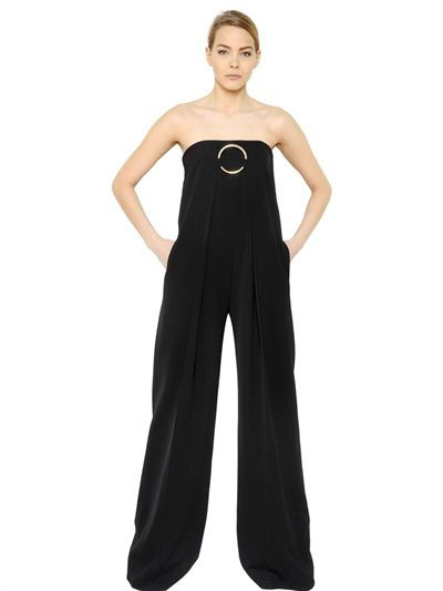 Stella McCartney strapless wool jumpsuit available at LUISAVIAROMA.com