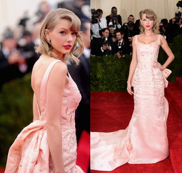 Remember you can still shop Taylor Swift's last year gala gown by Oscar de la Renta at BERGDOF GOODMAN