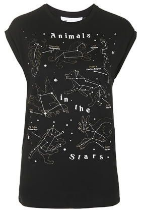 Animals in the stars tee by Tee & cake available at TOPSHOP.com