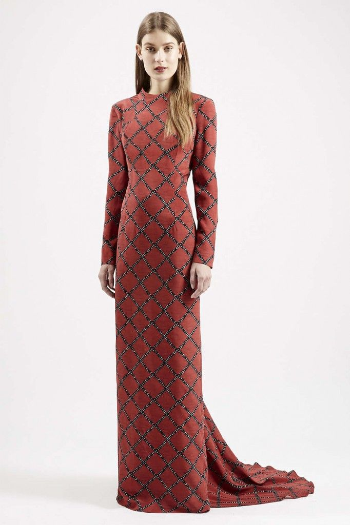 *TopShop red carpet fishtail hem silk maxi dress available at TOPSHOP