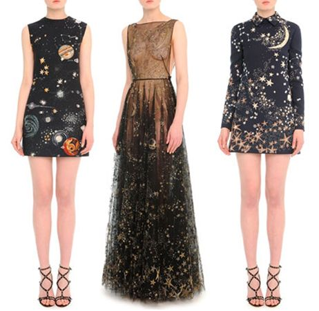 1) Valentino cosmos-print crepe sheath dress available at NEIMAN MARCUS