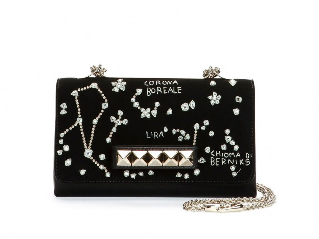 Valentino Va-Va-voom constellation embroidered shoulder bag available at NEIMAN MARCUS