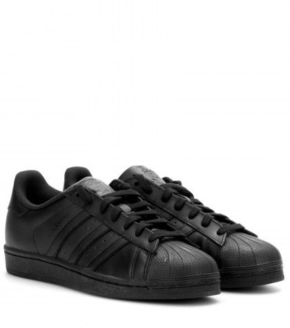 Adidas Superstar Foundation black leather sneakers available at MYTHERESA.com