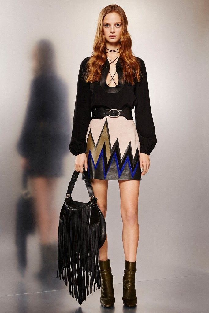 LAIA'S PICK: Emilio Pucci suede trimmed leather mini skirt available at NET--A-PORTER