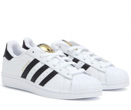 Adidas Superstar leather sneakers available at MYTHERESA.com