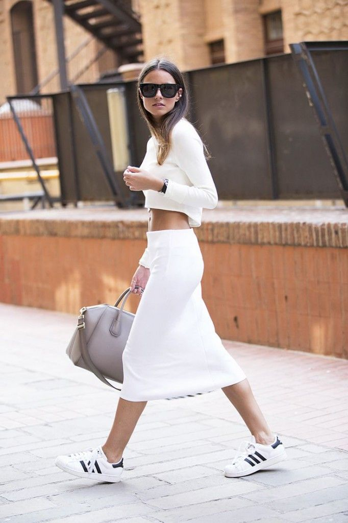 With midi skirts