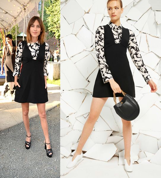 Alexa Chung debuting Stella's Resort collection