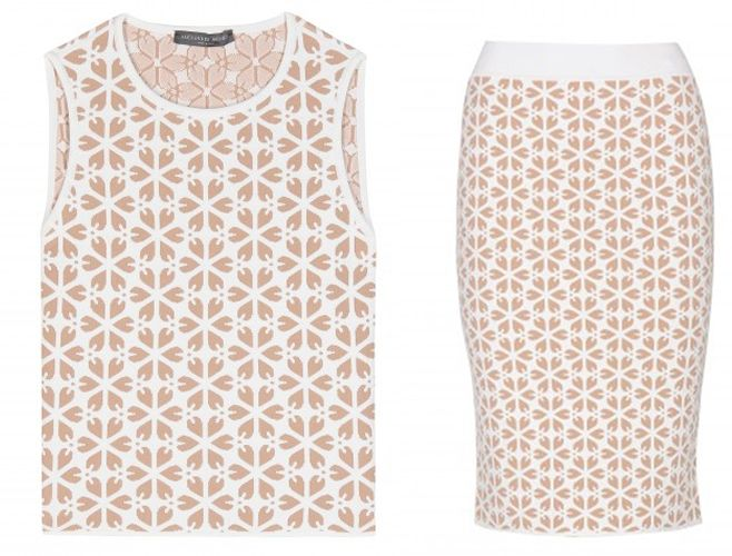 Alexander McQueen jacquard crop top available at MYTHERESA.com
