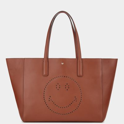 Anya Hindmarch Ebury shopper in burnt orange leather available at ANYAHINDMARCH.com