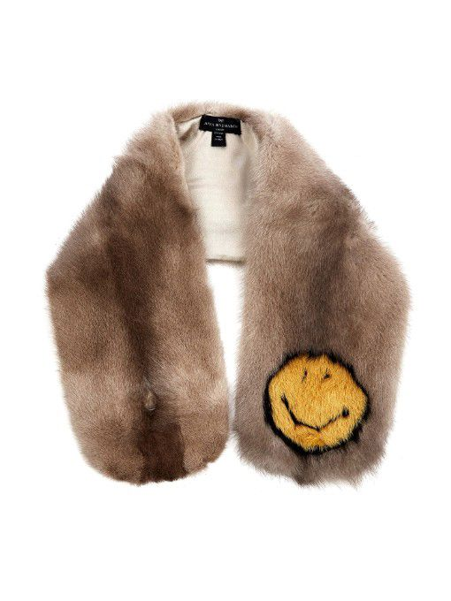 Anya Hindmarch mink fur Smiley scarf available at MATCHESFASHION.com