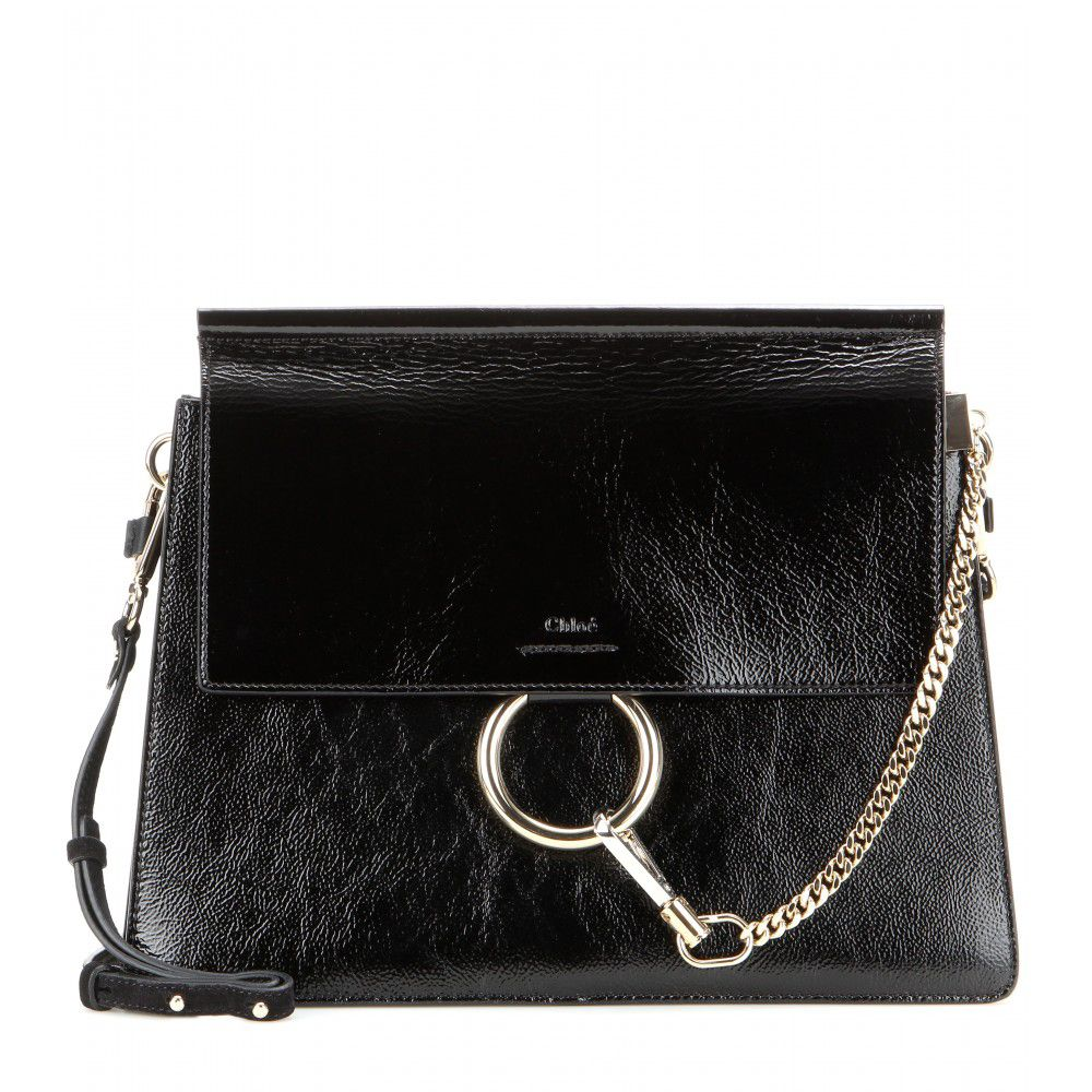 Chloé Faye patent leather shoulder bag available at MYTHERESA.com