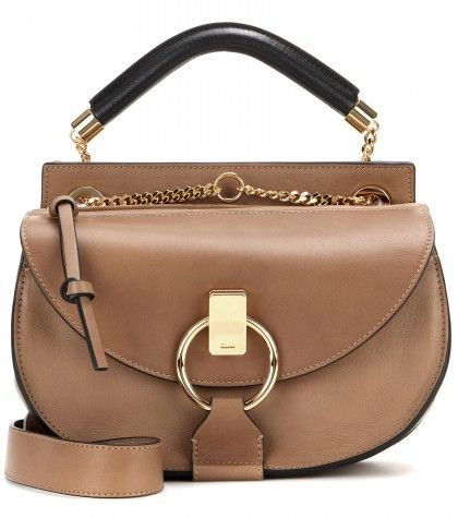 Chloé Goldie small tan leather shoulder bag available at MYTHERESA.com