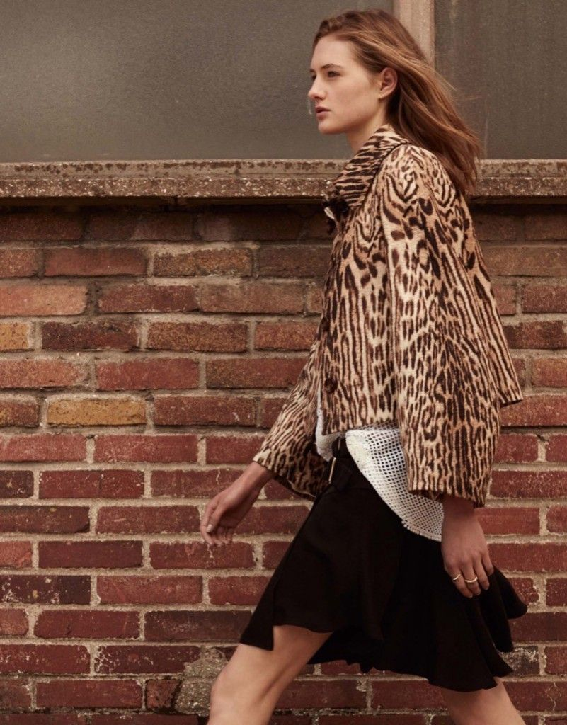 Leopard print cotton jacquard cropped jacket available at LUISAVIAROMA.com
