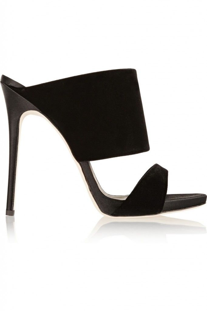 LAIA'S PICK: Giuseppe Znotti velver mules available at NET-A-PORTER