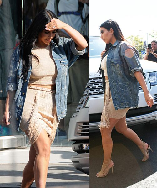 Kim Kardashian out and about arriving at Dash Store on June 16, 2015 in Los Angeles, CA. in Los Angeles, California.