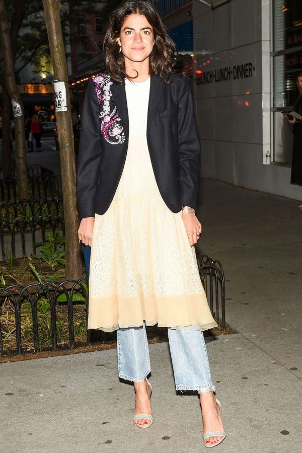 leandra-medine-dress-over-jeans-formal-event
