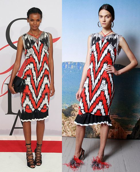 Liya Kebede debuting Altuzarra's Resort 2016 collection