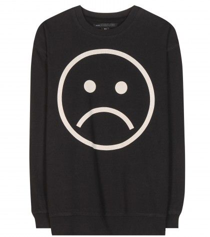 Marc by Marc Jacobs sad face cotton sweatshirt available at MYTHERESA.com