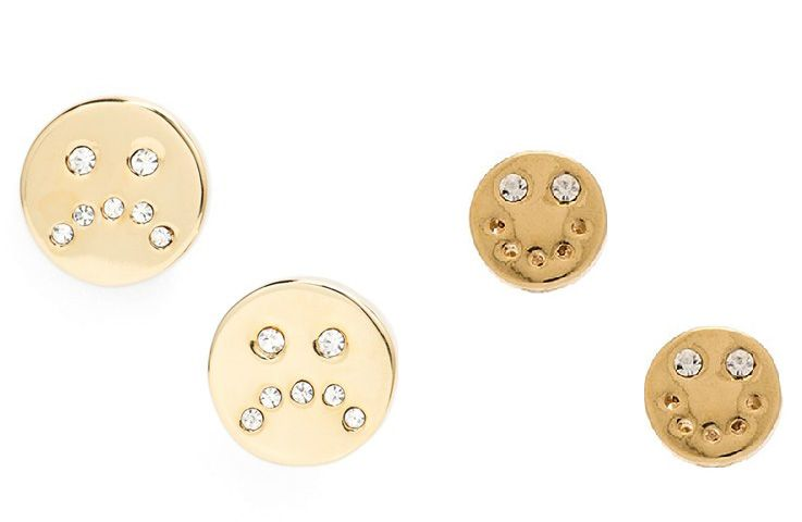 Marc by Marc Jacobs unsmiley stud earrings available at