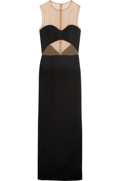 Michael Kors stretch mesh-paneled crepe gown available at NET-A-PORTER