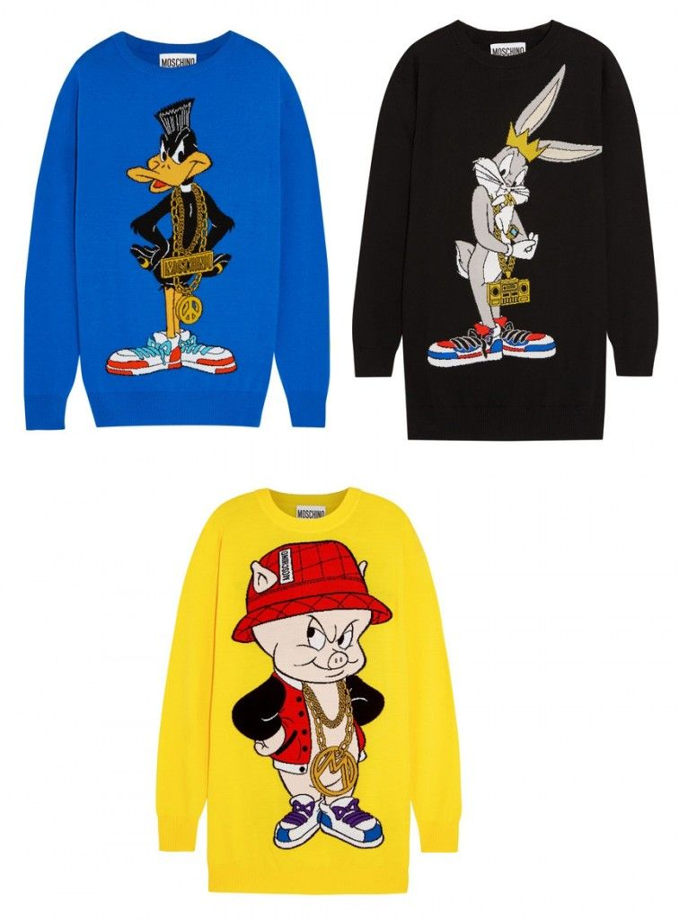 moschino-looney-toones-sweater-dresses