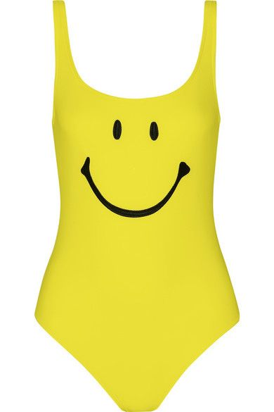 Moschino smiley swimsuit available at NET-A-PORTER