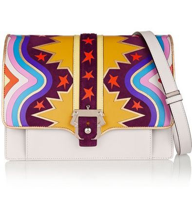 Paula Cademartori Caroline appliquéd light-gray leather and suede shoulder bag available at NET-A-PORTER