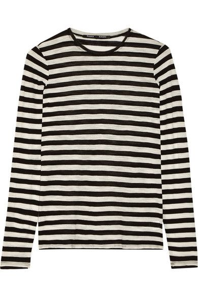 Proenza Schouler striped slub cotton-jersey top available at NET-A-PORTER