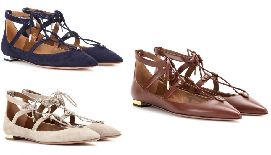 Aquazzura-Bel-Air-lace-up-ballerinas
