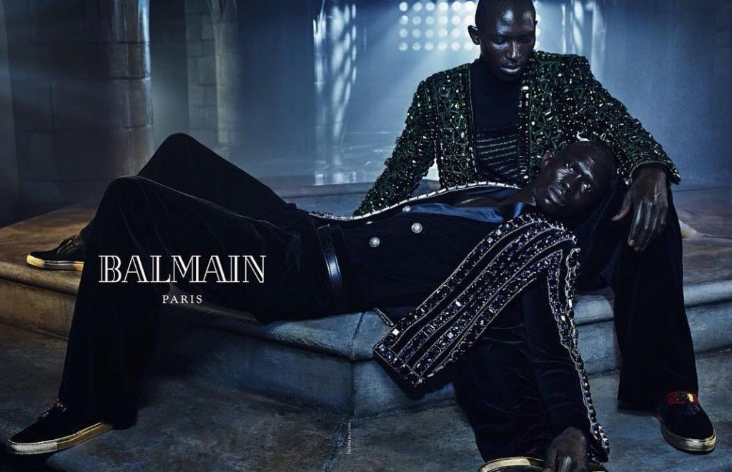 Balmain Fall Winter 2015 Menswear Ad Campaign featuring Armando and Fernando Cabral