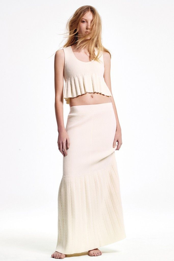 Ribbed knitted maxi skirt available at NET-A-PORTER