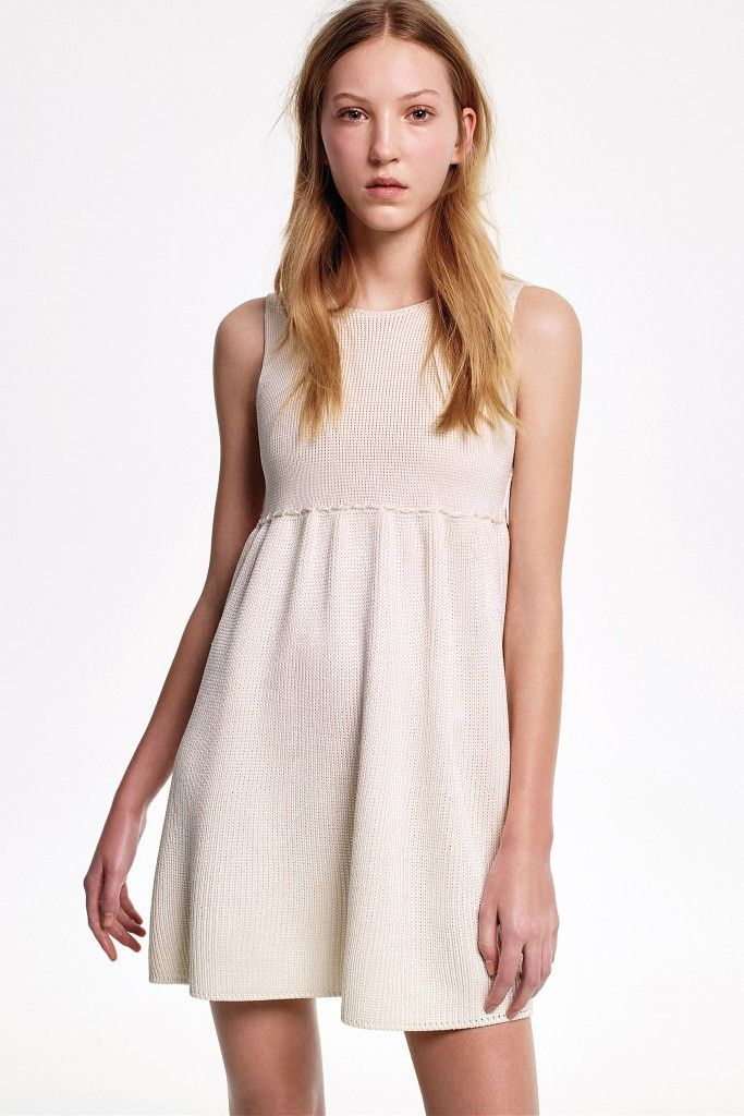 Tilly knitted ivory silk mini dress available at NET-A-PORTER
