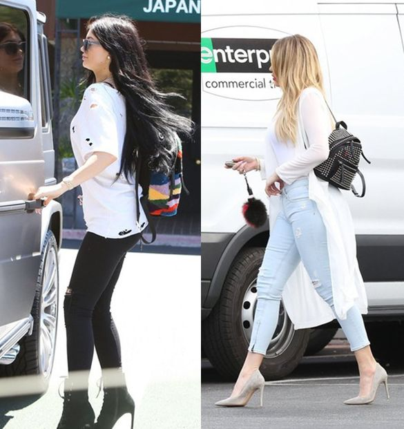 Kylie Jenner and Khloe Kardashian out and about Los Angeles