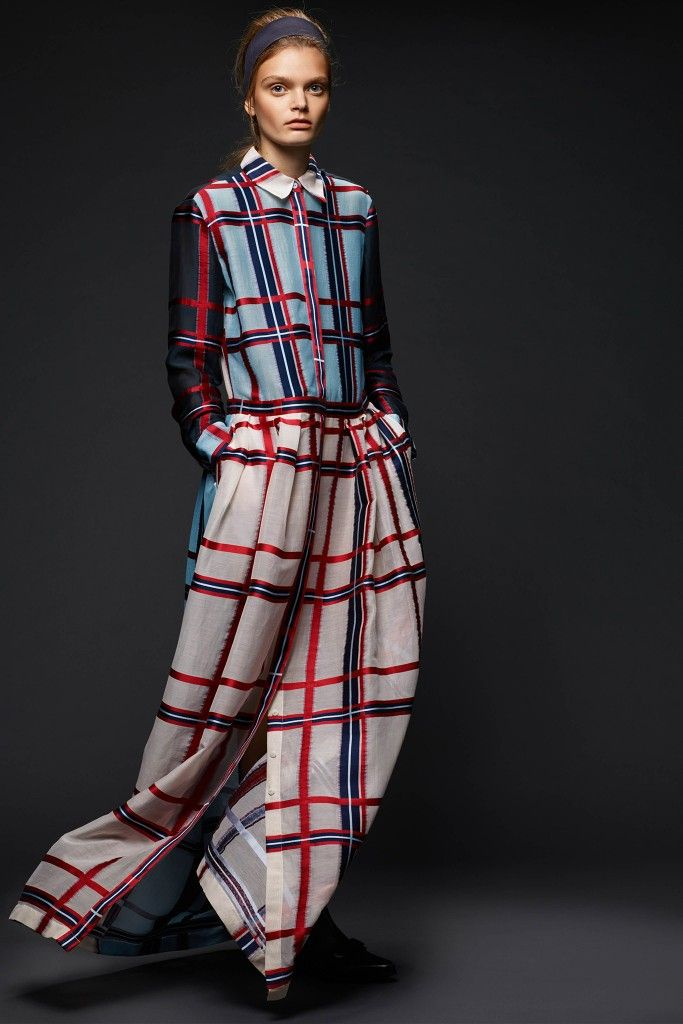 You can buy this Preen Grower checked silk crepe de chine maxi dress from NET-A-PORTER