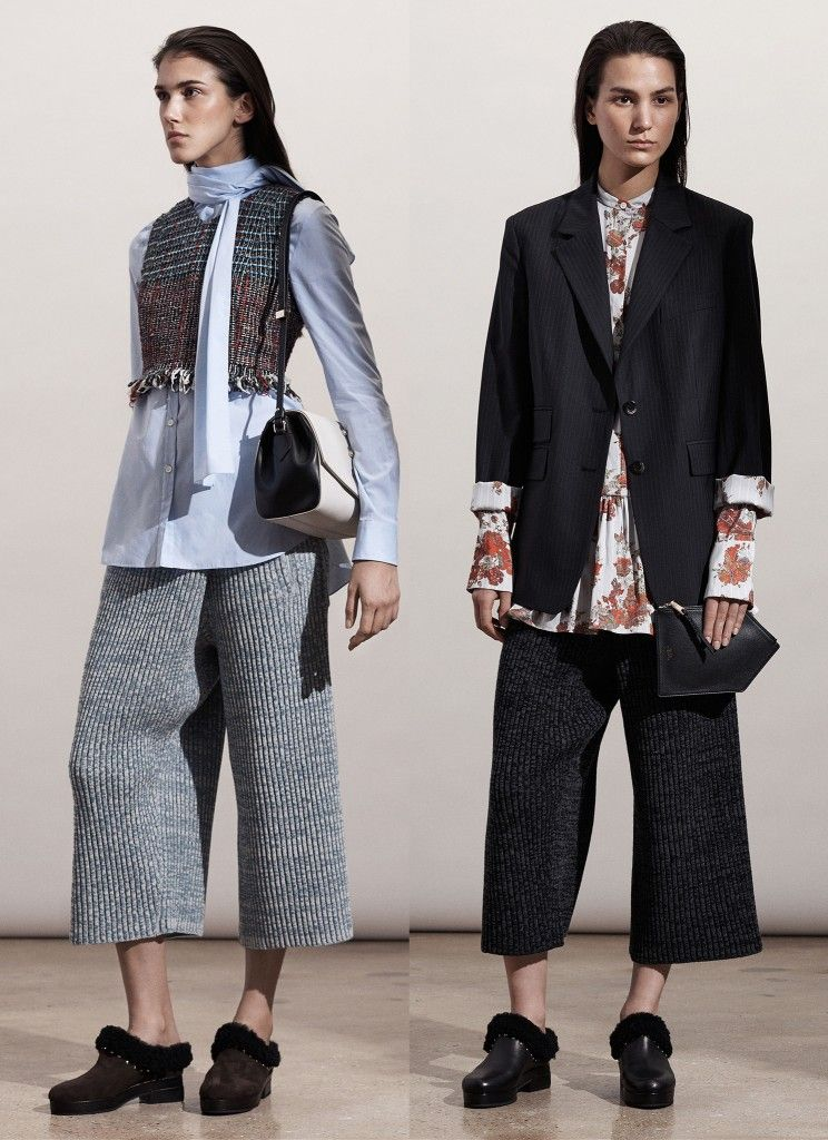 Thakoon Pre-Fall 2015 lambswool culottes