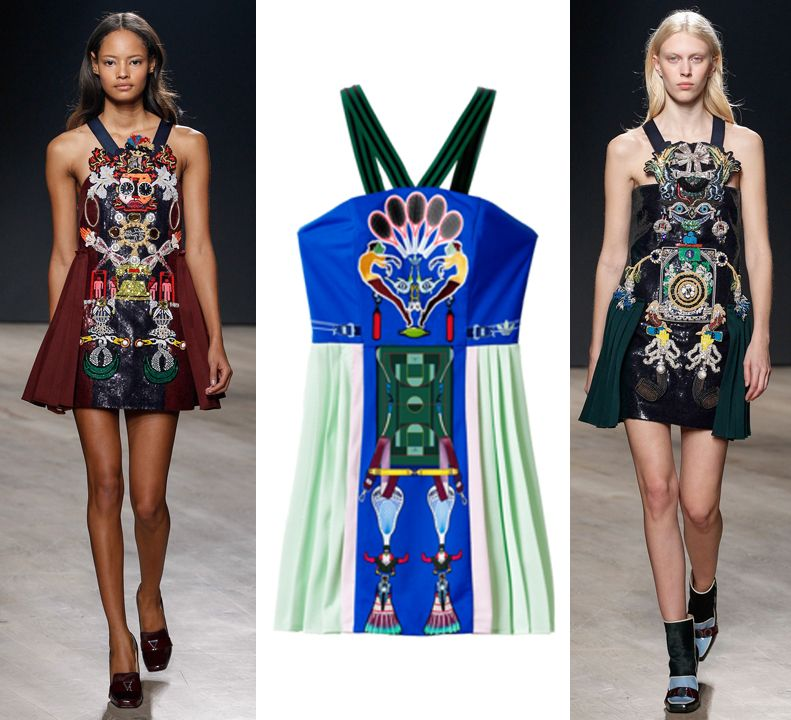 MK dress available at MARYKATRANTZOU.com