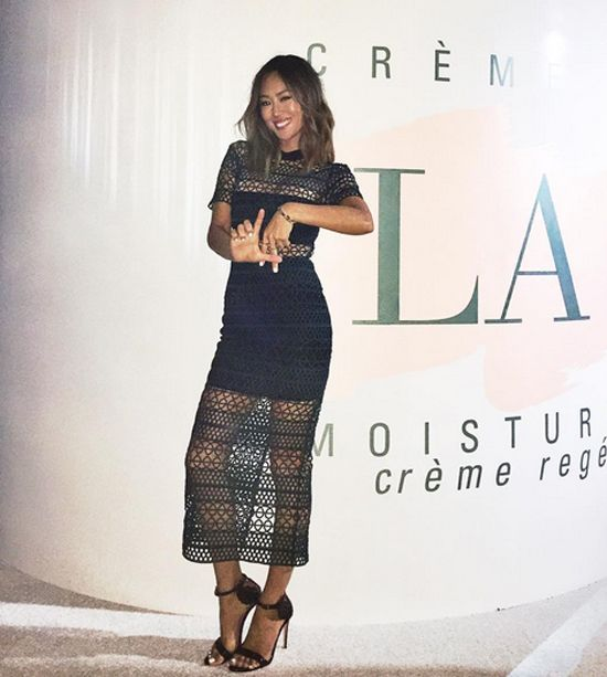Aimee Song wearing Self Portrait at La Mer 50th Anniversary Party