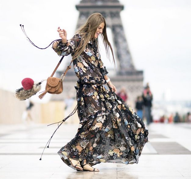 Anna dello Russo carrying the Hudon bag while attending Paris Haute Couture Fashion Week FW15