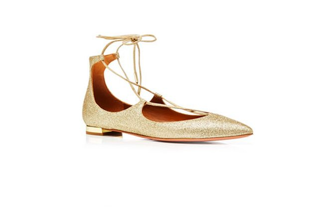 Aquazzura Christy sparkle ballerina flats availabel at MODA OPERANDI