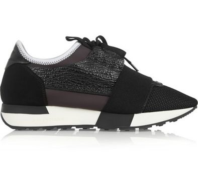 Suede and leather paneled mesh and neoprene sneakers available at NET-A-PORTER