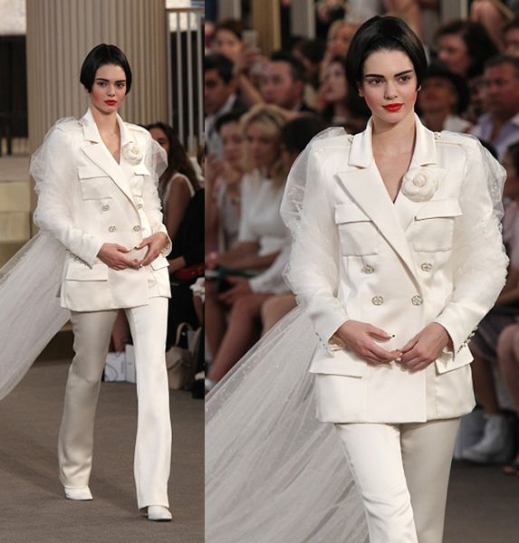 Kendall Jenner walks the runway during the Chanel show as part of Paris Fashion Week Haute Couture Fall/Winter 2015/2016 on July 7, 2015 in Paris, France.