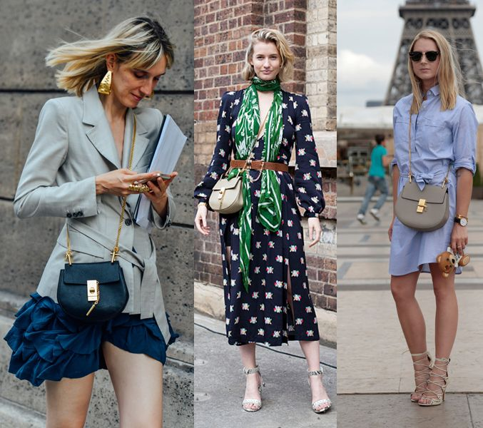 Haute Couture Fall 2015 Street Style proofs Chloé's Drew is still the most-wanted bag!