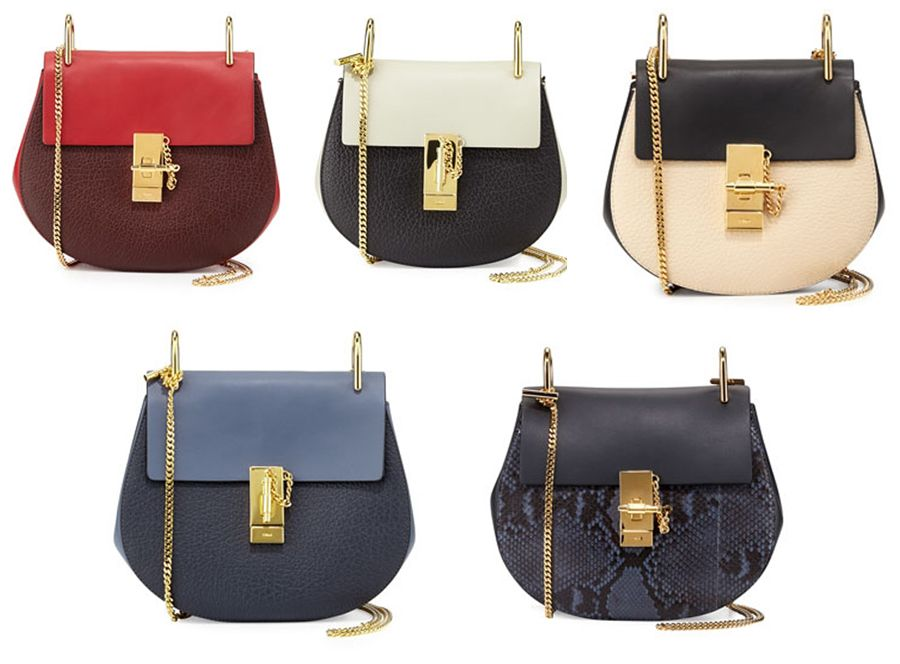 Chloé Drew Mini red and wine leather shoulder bag, exclusive to NEIMAN MARCUS