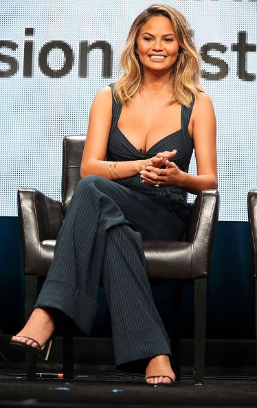 Model Chrissy Teigen speaks during the 2015 Summer TCA Press Tour at The Beverly Hilton Hotel on August 4, 2015 in Beverly Hills, California.