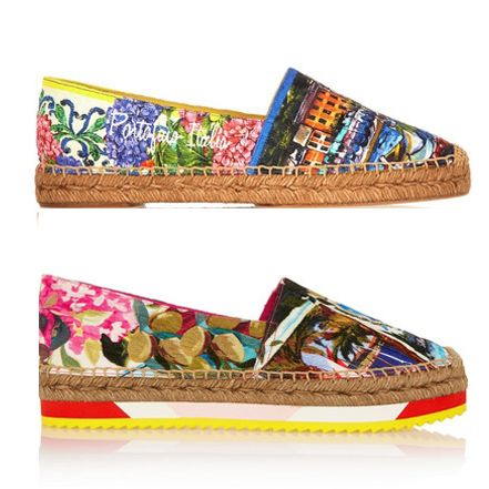 Printed brocade espadrilles available at NET-A-PORTER