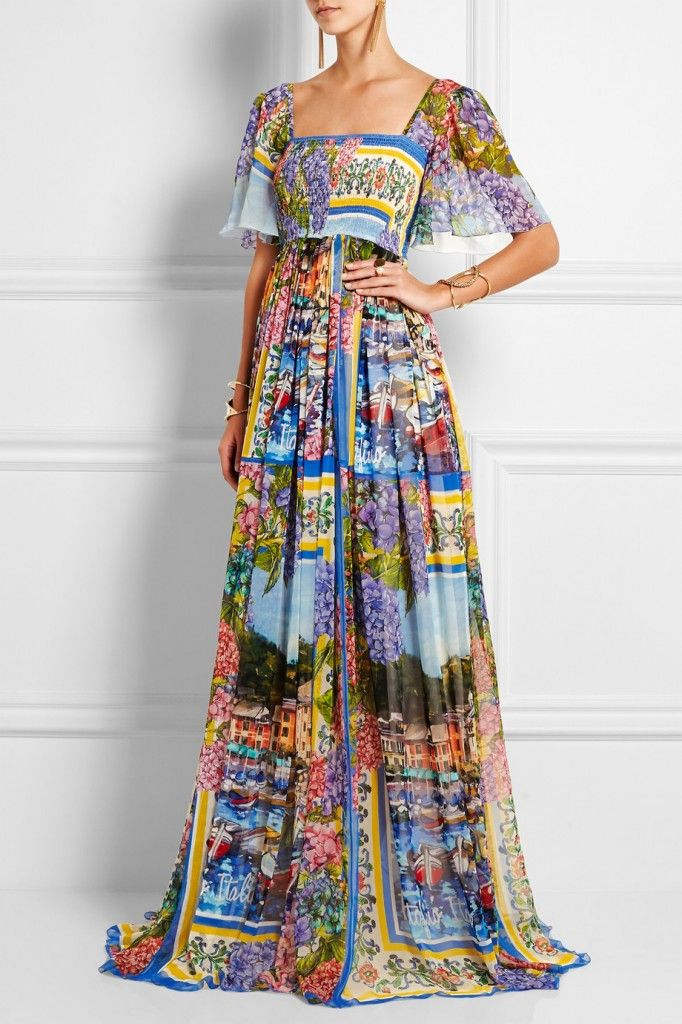 LAIA'S PICK: Printed silk-chiffon gown