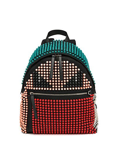 Fendi Monster studded nylo backpack available at SAKS