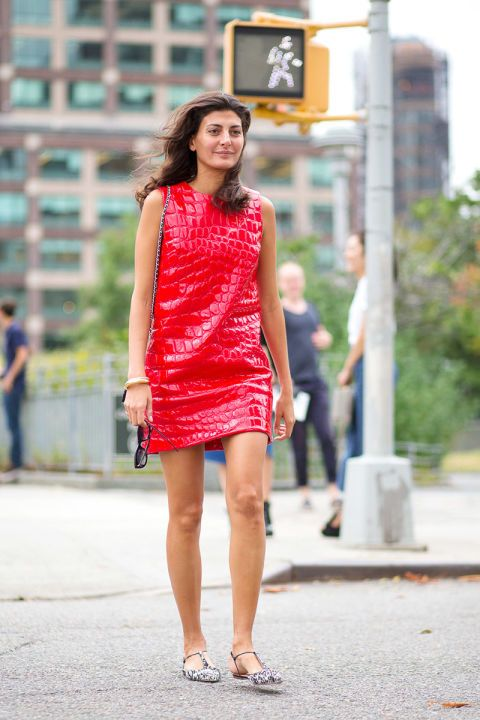 UPDATED: Giovanna Battaglia out on the streets for NYFW SS16
